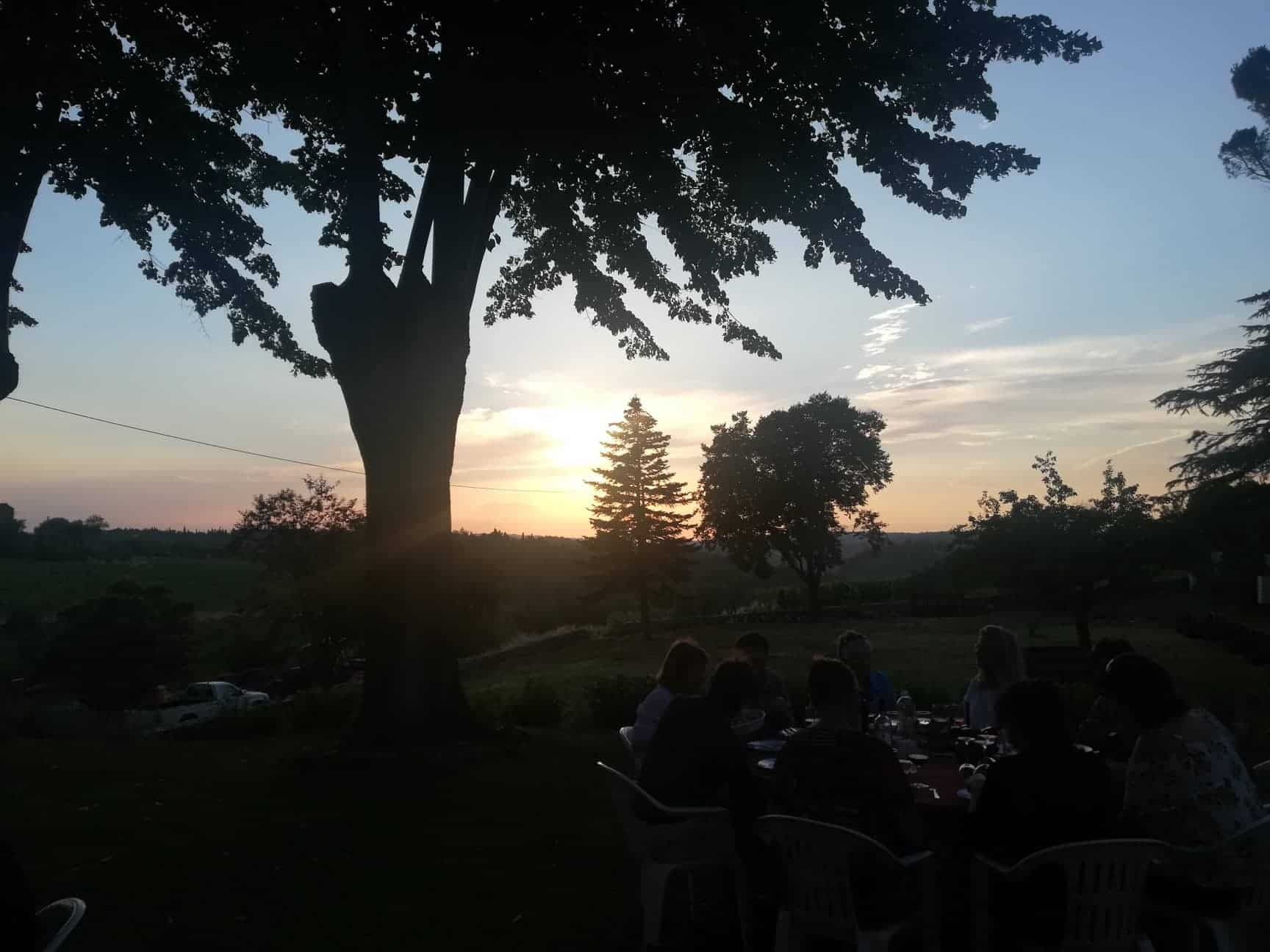 Dinner in a Chianti Winery